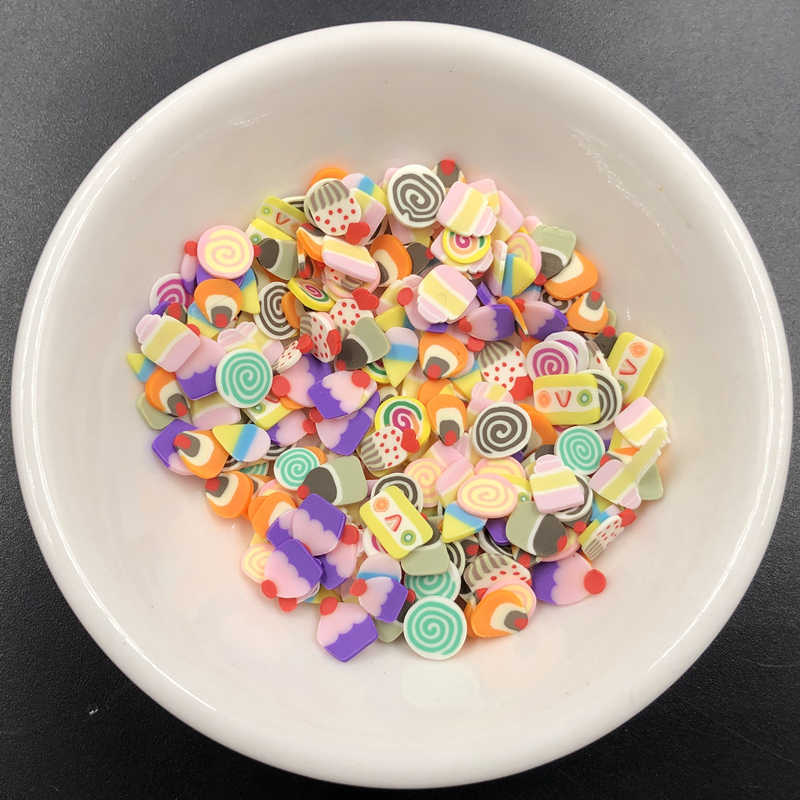 Fimo Slices Slide Fruit Polymer clay slime for Supplies Kit Fluffy Slimes Fruit  Accessories Putty Clay Toys for Kids