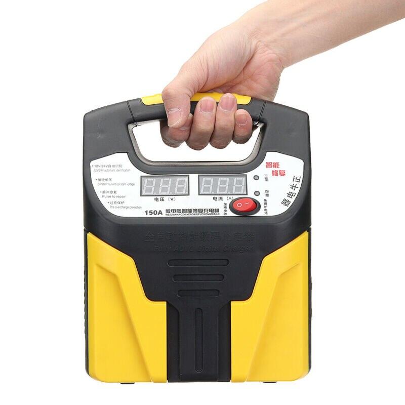 Arranque carregador de Carro 360W Pulso 12 V/24 V Salto Impulsionador Da Bateria Banco de Potência Reparo Display Digital LCD proteção Múltipla