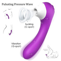 2 In 1 G Spot Vibrator Sex Toys for Woman Powerful Vibrator Clitoris Nipple Sucker Clit Sucker Clitoris Sucke Womanizer Phalos