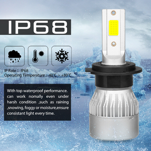 Image 5 - 2 Cái 6500 K 8500 K 5000 K Ampoule Led H7 H4 H11 H1 H9 9005 9006 HB3 HB4 COB đèn Pha Ampolleta LED Tự Động 12V 24V Tự Động Voiture