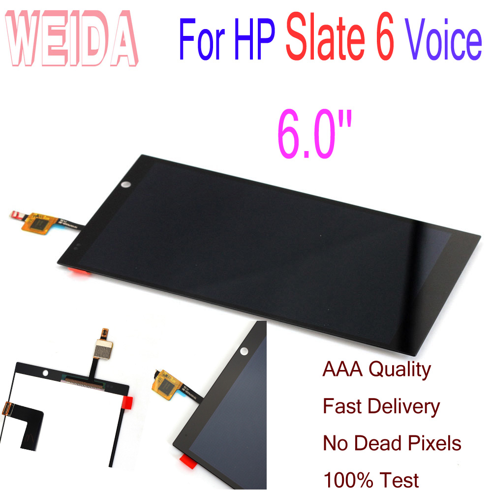WEIDA 6.0'' For HP Slate 6 Voice Tab LCD Display +Touch Screen Digitizer Assembly Replacement For Slate 6