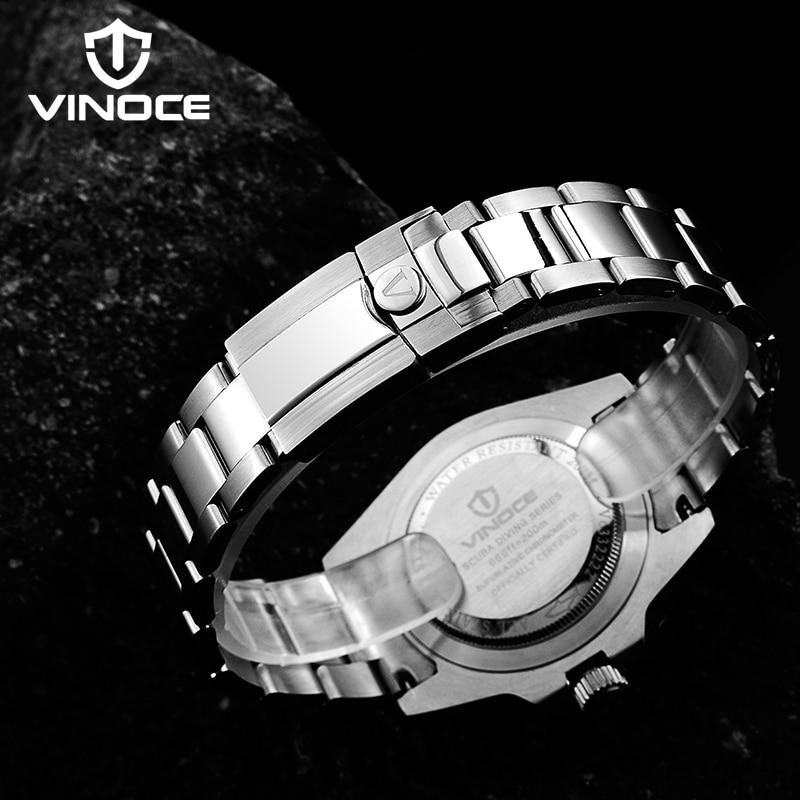 200 m wodoodporne zegarki nurkowe stal sport zegarek kwarcowy - Męskie zegarki - Zdjęcie 6