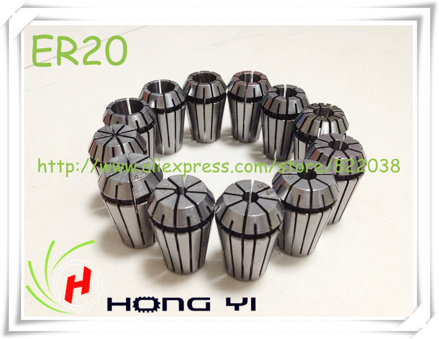 40set (13pcs/set) ER20 (1-13mm) Beating 0.1mm Precision Spring Collet chuck for CNC Milling Lathe Tool and spindle motor