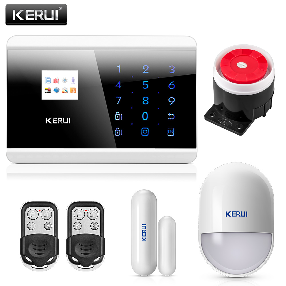 Russian Voice PSTN GSM Alarm System Dual Net Touch Dual APP Controlled Home Security Alarm Sensor Detector Burglar Alarm