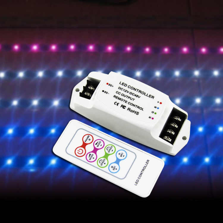 BC-361-CC DC12V-48V 350mA 700mA sabit akım çıkışı Led RGB şerit denetleyici RF uzaktan kablosuz RGB LED lamba için Dimmer