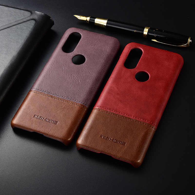 Case untuk Motorola MOTO P40 Kezihome Mewah Memukul Warna Asli Kulit Keras Kembali Penutup Capa untuk Moto P40 P 40 telepon Kasus