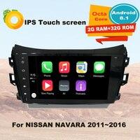 Support Apple Carplay Android8.1 Car Radio GPS Multimedia Player For Nissan Navara NP300 D23 2015 2018 Auto Audio Navi Stereo