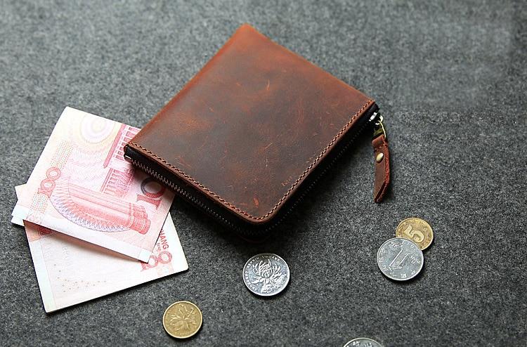 saco de dinheiro do vintage curto pequeno