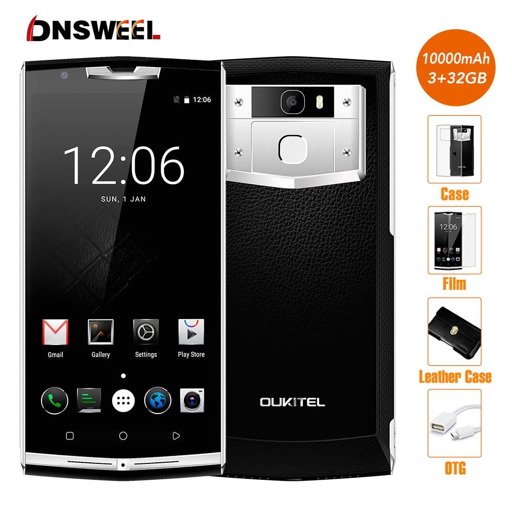 OUKITEL K10000 Pro Batería Del Teléfono Móvil 10000 mAh Octa Core Android 7.0 sm