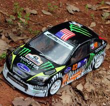 2 teile/satz WRC RS 1:10 PVC drift On road painted körper shell mit wind schwanz für hsp traxxas tamiya 3 racing hpi hobby RC teile