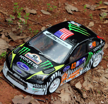 2pcs/set WRC RS 1:10 PVC drift On-road painted body shell for hsp traxxas tamiya 3racing hpi hobby RC parts