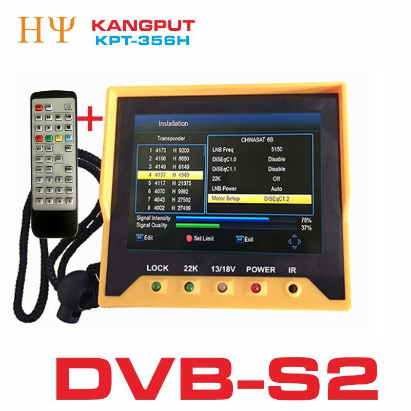 Genuine KPT 356H 3 5 inchHandheld TFT LCD Multi Function DVB S S2 Digital Satellite
