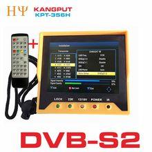 [Hakiki] KPT 356H 3.5 inchHandheld TFT LCD çok fonksiyonlu (DVB S/S2) dijital uydu bulucu daha iyi satelink ws 6906 6933