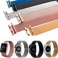 Luxo nova milanese laço assista strap para apple watch band 42mm 38mm série 1 2 ligação pulseira de aço inoxidável pulseira