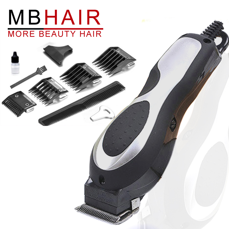 Professional Titanium Blade Corded hair clipper electric hair trimmer powerful hair shaving machine hair cutting beard 110V-240V kemei 110 240v rechargeable hair trimmer powerful men shaving clipper machine with washable stainless steel blade limit combs