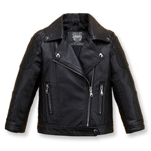 Autumn Spring Leather Jacket for Girls,Boys Leather Jacket,Advanced PU Imitation Leather Coat,Trim Fit Style clothing (3-12Yrs) advanced style