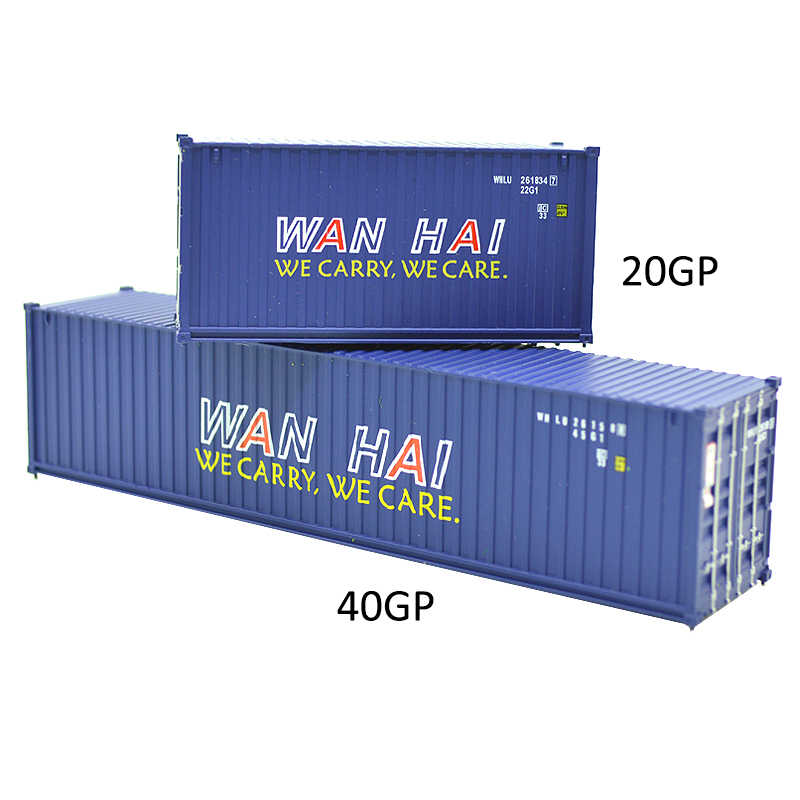 1: 87 масштаб Хо модель поезда игрушечная железная дорога грузовик 20 футов и 40 футов WANHAI доставка Контейнер грузовой автомобиль для модели здания