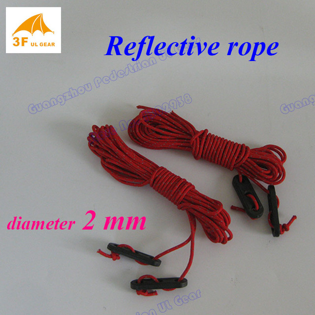 3F ul Gear 2 mm reflective 2.4 meters outdoor camping tent tarp guide ropes