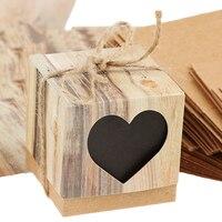 50 штук деревенских конфетных коробок + 100 шт Благодарим Вас за подарочные бирки, этикетки, свадебные сувениры
