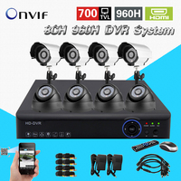 8ch 960h 25fps Realtime Recording Dvr Nvr With IR Weatherproof CCTV Home Security Camera Dvr Surveillance