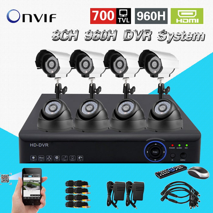 TEATE 8ch 960h 25fps realtime recording dvr nvr with IR Weatherproof CCTV home Security Camera dvr surveillance system CK-130 teate 8ch ir surveillance kit home security network hdmi 1080p dvr nvr video recorder cctv system 960h d1 recording ck 188