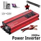 2000W Car LED Inverter 12v 220v Converter DC 12 v to 220v 4 USB Ports Charger Veicular Car Power Inverter Dual Display Inversor