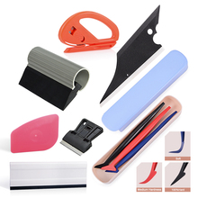 EHDIS Car Vinyl Carbon Fiber Film Wrap Tool Set Long Window Tint Scraper Sticker Cutter Glue Remover Tinting/Wrapping Tools
