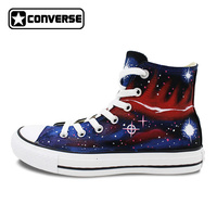Galaxy Shoes Women Men Converse All Star Original Design Hand Painted High Top Canvas Sneakers Boys Girls Christmas Gifts