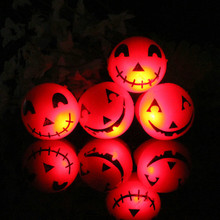 20pcs/lot Flashing smiley finger rings led finger ring light-up toy props yellow cartoon kids ring halloween supplies ring toy