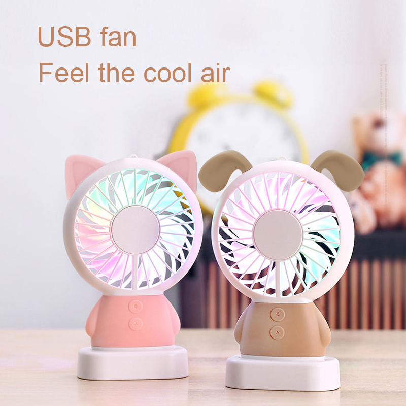 2018 ejoai Fan Mini USB Fan cool air conditioner rechargeable fan portable desk Fan for laptop desktop home office travel trip handheld cartoon mini fan usb portable fan for home outdoor desk rechargeable air conditioner with 1200ma rechargeable battery