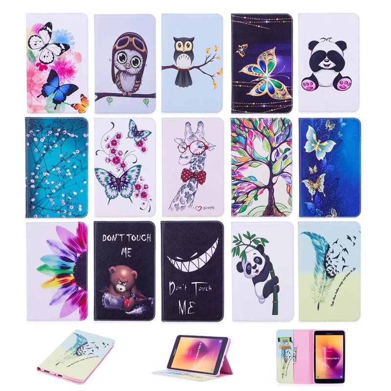 For Samsung T380 Tablet Case PU Leather Tower Flower Wallet Flip Cover for Samsung Galaxy Tab A 8.0 T380 SM-T385 8'' 2017 Case luxury tablet case cover for samsung galaxy tab a 8 0 t350 t355 sm t355 pu leather flip case wallet card stand cover with holder