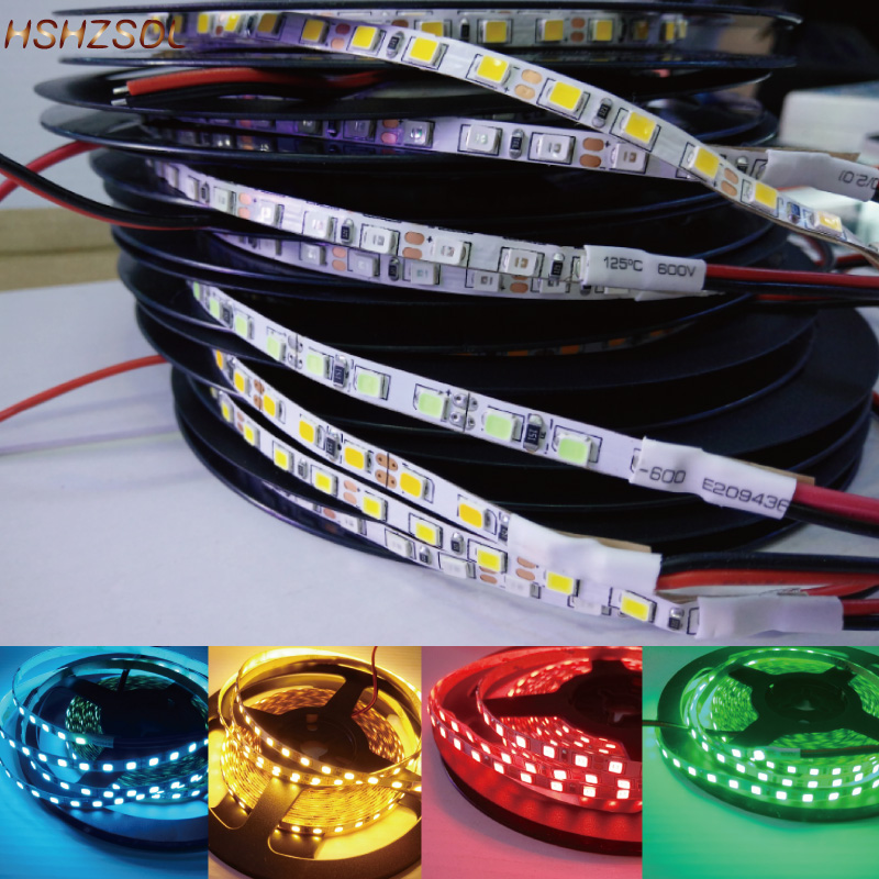 DC12V <font><b>4mm</b></font> <font><b>LED</b></font> Strip Lights 9 color Not Waterproof <font><b>SMD</b></font> 2835 5m 600LED 120L/m brightness Light Tape Flexible <font><b>Led</b></font> strip white/Warm image