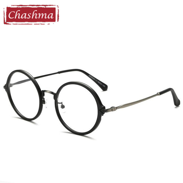 Chashma Brand TR 90 Flexible Frame Alloy Temple Glasses Vintage ...