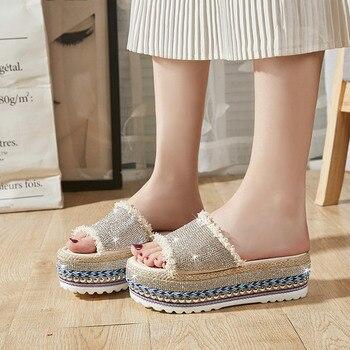 b31b83d064 LUCYEVER las mujeres verano playa diapositivas Comfort Slip en tacones  planos Flip Flops, verano de 2019 Zapatillas Zapatos Mujer Casual Sandallias