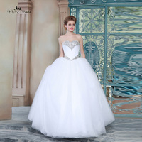 Cheap Wedding Dresses Made In China Crystal Stones Sweetheart Wedding Gown Floor Length HSW11