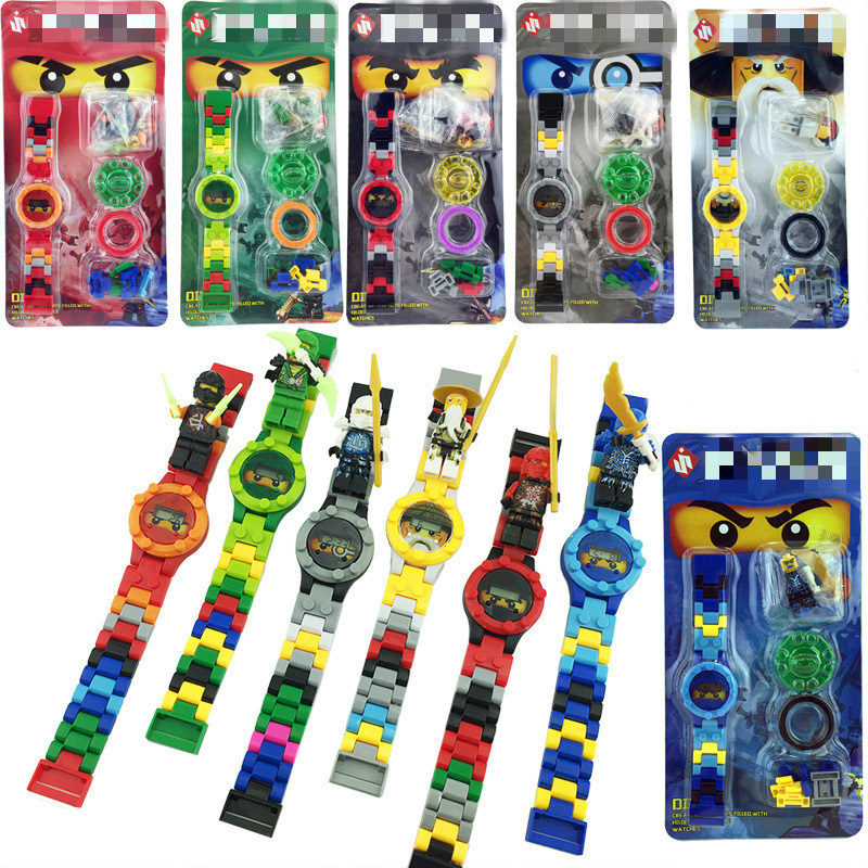 9 Styles Ninja With Legoings Super Hero Watch Legoingly Ninjagoingly Building Blocks Bricks Children's Figures Yokai Watch Toys