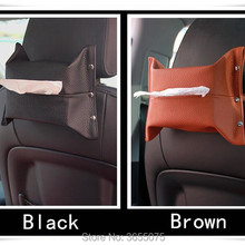 Car Sun Visor Hanging Leather Tissue Box For bmw e30 fiat punto opel  insignia jeep wrangler f623f327729