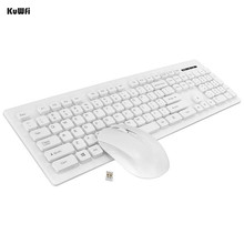KuWfi Ultra Slim Wireless Keyboard 2.4Ghz and Mouse Combos For Desktop Laptop PC Computer Set