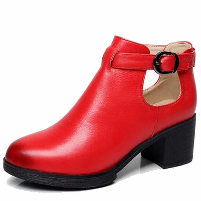 Printemps Rond Chaussures Hauts Femmes Femme bleu Véritable 41 Rouge rouge Bout Pompes forme Gladiateur Talons Plate En Cuir Noir rr0wzE