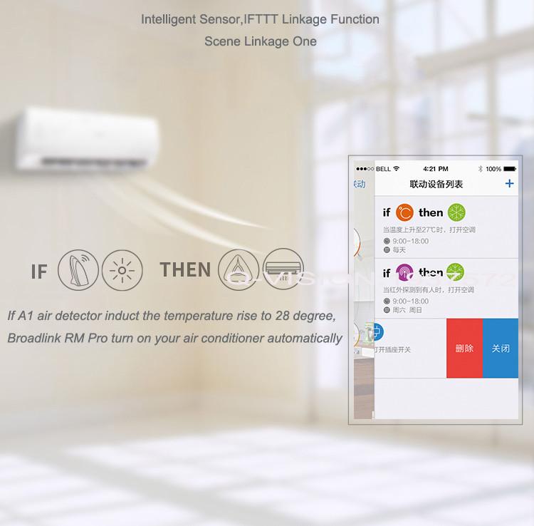 8-Broadlink RM2 RM PRO Universal Smart Wifi Remote IR RF + A1 E-Air Quality Detector Infrared Home Automation kit Sensor Smart App