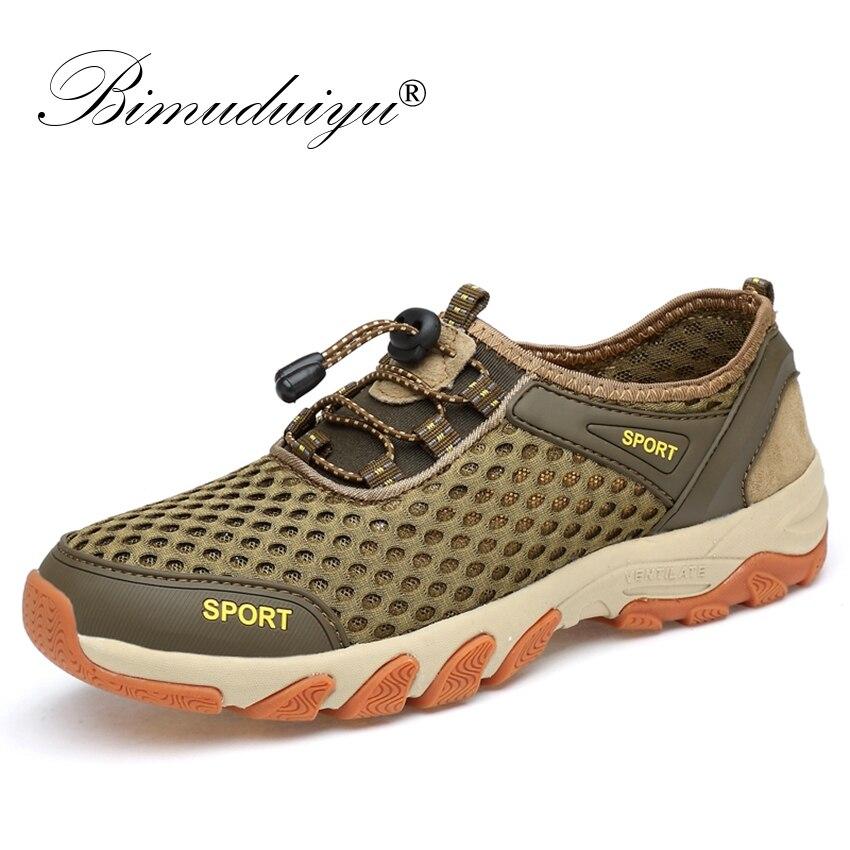 BIMUDUIYU 2018 мужские кроссовки 9908 слипоны Для мужчин прогулочная повседневная обувь модная дышащая кожа + сетка Для мужчин Летняя обувь на плоск...