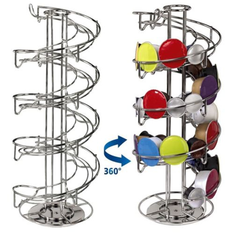 Stainless Steel 30 Coffee Capsules Rack Stand Pod Coffee Holder Stand Cafe Accessory Coffee Holder