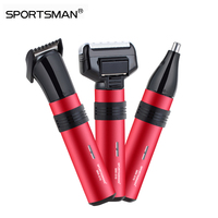 3 In 1 Professional Waterproof Nose Hair Trimmer Hair Clipper Rechargeable Electric Shaver Beard Trimmer Tool
