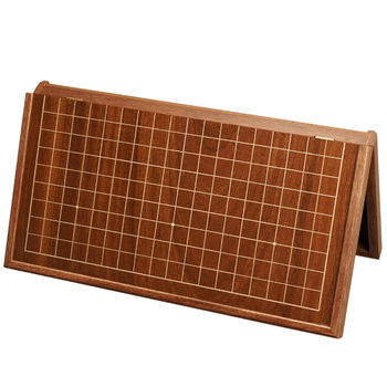 BSTFAMLY madera plegable Go juego de ajedrez 19 camino Chessboard Tablero de Control antiguo juego de Go Weiqi para 22mm pieza checker GB11