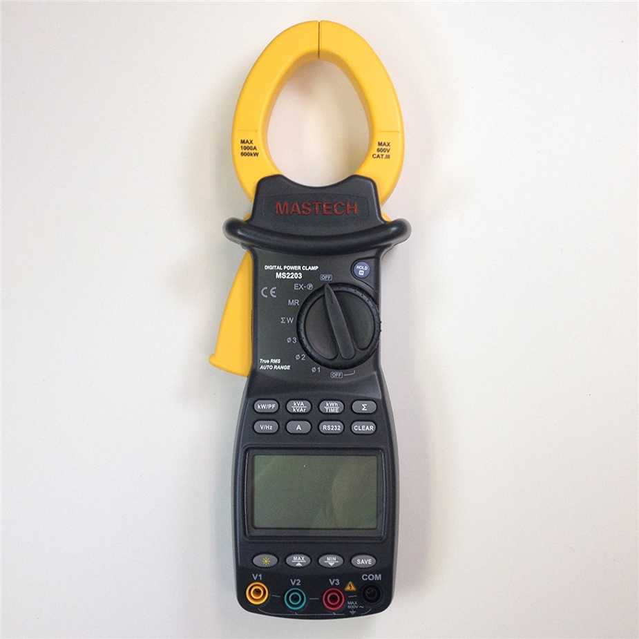 PEAKMETER MS2203 3-Phase Digital Clamp Meter Power Factor Correction Multimeter for AC Voltage Current Reactive Power Frequency цена