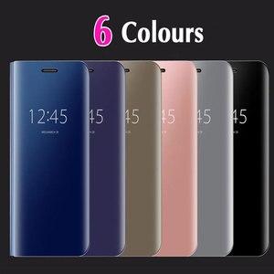 Image 5 - Flip כיסוי מראה טלפון מקרה לסמסונג גלקסי S9 בתוספת S8 S7 קצה S6 הערה 8 5 מקסימום A8 2018 j7 J5 J3 2017 האיחוד האירופי A5 A3 A7 J730 Note8