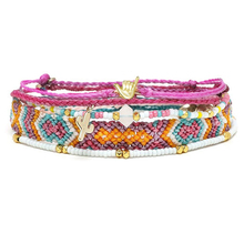 boho jewelry gift bracelet handmade cotton string friendship