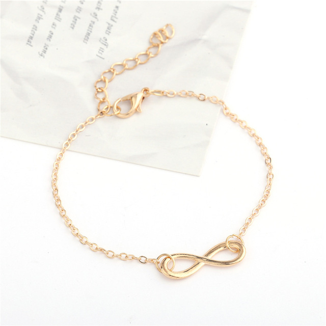 2018 Fashion Jewelry Bracelet Ladies New 8 Men's Infinite Bracelet Jewelry Bracelet Simple Retro Auspicious Digital Bracelet