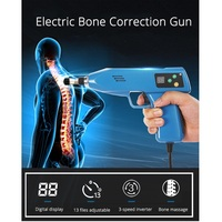 Electric Bone Correction Gun Spine Chiropractic Instrument Activator Cervical Therapy Massager 13 Levels 6 Heads Adjustable