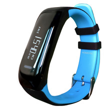 NBS05 Blue Bluetooth 4.0 Smart Bracelet smart band Heart Rate Monitor Wristband Fitness Tracker for Android iOS